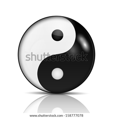 Ying yang symbol of harmony and balance.vector - stock vector