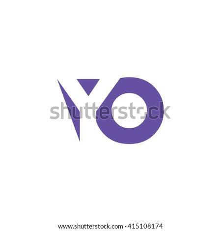YO Logo. Vector Graphic Branding Letter Element. White Background - stock vector