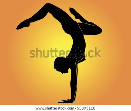 Yoga a handstand