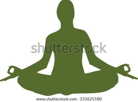 Yoga figure sitting
