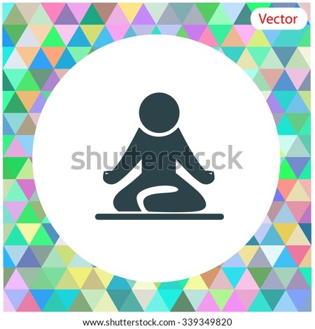 Yoga figure sitting vector icon. - stock vector