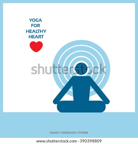 Yoga For Healthy Heart Concept