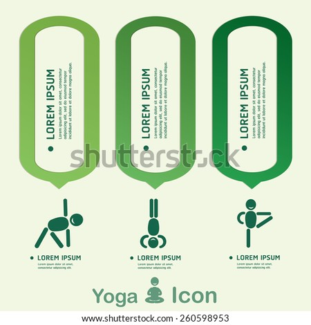 Yoga Healthy lifestyle infographic, vector