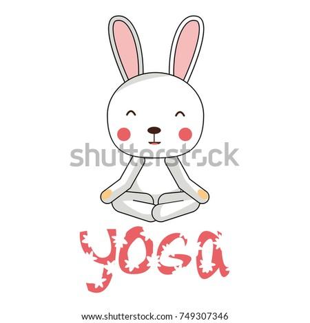 Yoga Kids Kid Sitting In Lotus Pose Vector Illustration