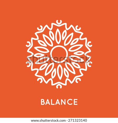 Yoga logo template. Graphic design element for spa yoga topic. Eps 10 vector illustration. - stock vector