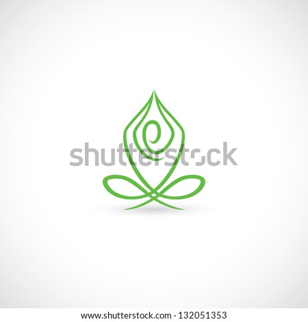 Yoga lotus pose - vector illustration