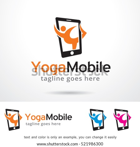 Yoga Mobile Logo Template Design Vector Stock Vector ...