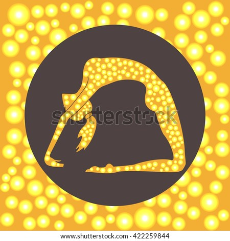 Yoga pose vector illustration - stock vector