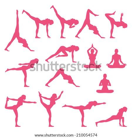 Yoga Poses - stock vector