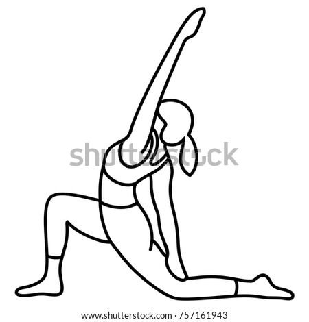 yoga poses asana poses postures vector stock vector