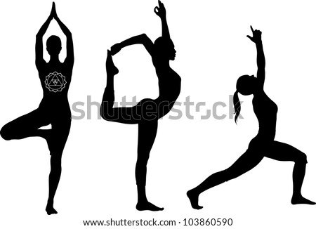 Yoga Poses Lord Of The Dance Warrior I And Tree Pose Black Icon