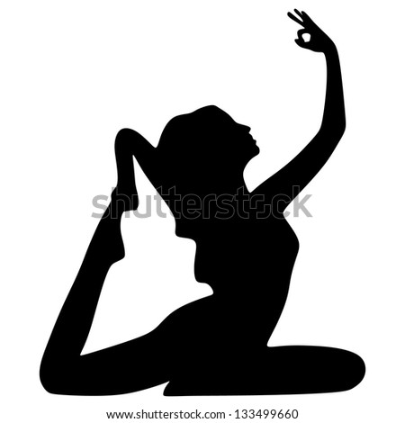 Yoga position - stock vector