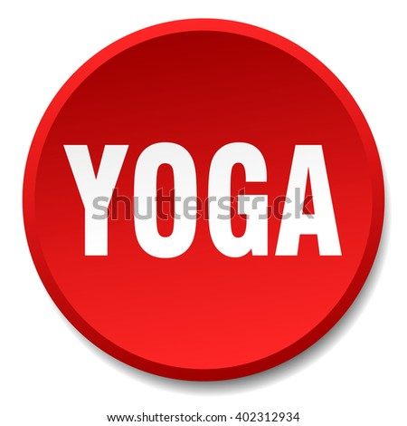 yoga red round flat isolated push button