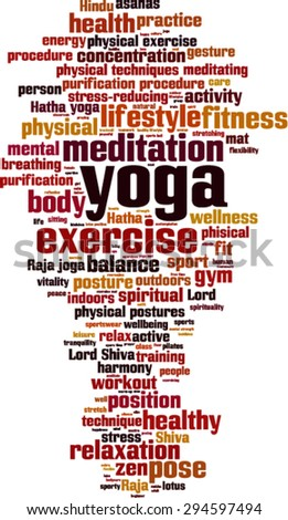 Yoga word cloud concept. Vector illustration