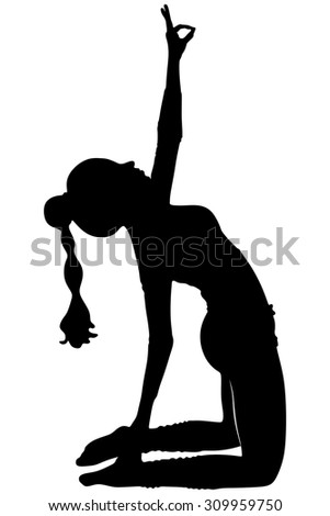 belly dancing black woman silhouette on stock illustration