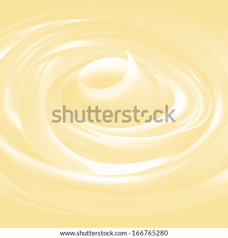 Yogurt, ice-cream or facial cream vector texture. Editable color - stock vector