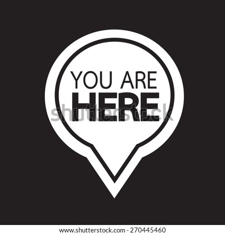 You are here icon - stock vector