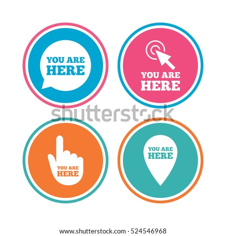 Cursor Pointer Icons Mouse Hand Arrow Stock Vector 187051445 ...