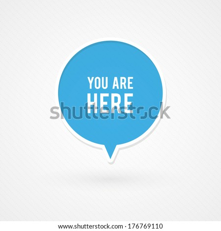 You are here sign - stock vector