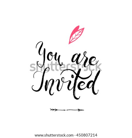 you invited party invitation card vector stock vector 450806971 shutterstock. Black Bedroom Furniture Sets. Home Design Ideas