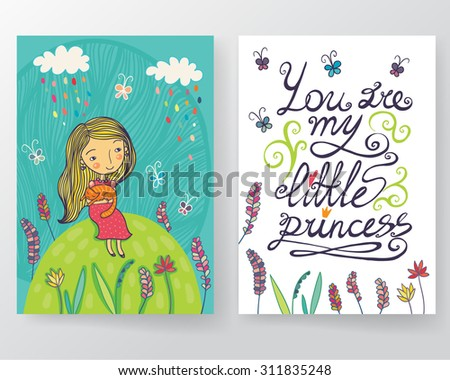 You are my little princess card set.