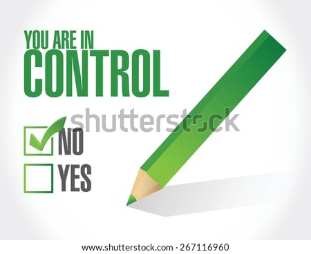 you are not under control concept illustration design graphic - stock vector