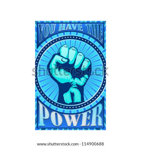 You have the power - stock vector