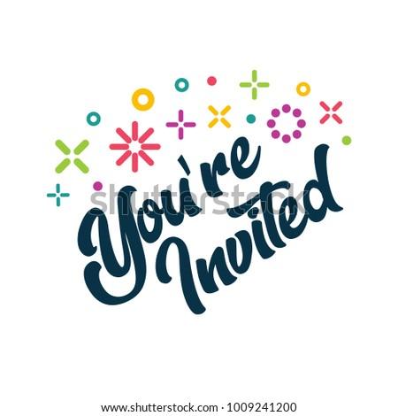 Youre invited greeting invitation card stock vector hd royalty free youre invited greeting invitation card stopboris Choice Image