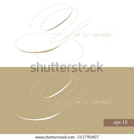 Invitation scroll stock images royalty free images vectors youre invited original custom hand lettering handmade calligraphy vector eps stopboris Gallery