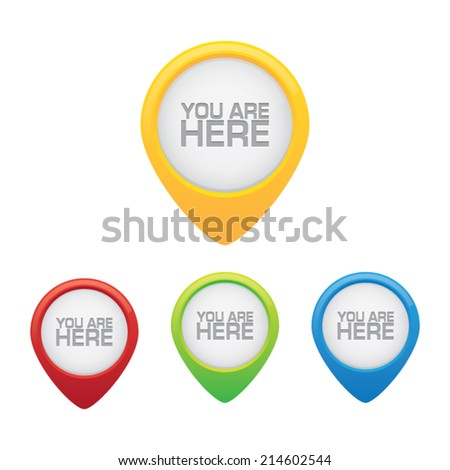 Youare Here Pins