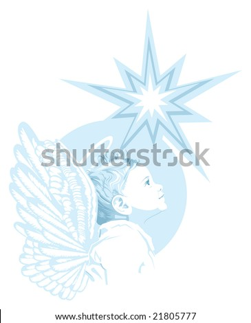Young Angel - stock vector
