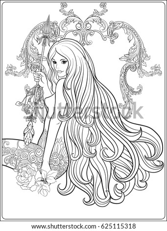 Selena Gomez Coloring Pages Click The Musa With Long Hair Coloring
