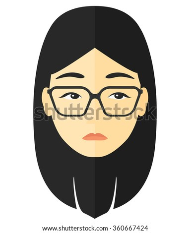 Young depressed woman. - stock vector