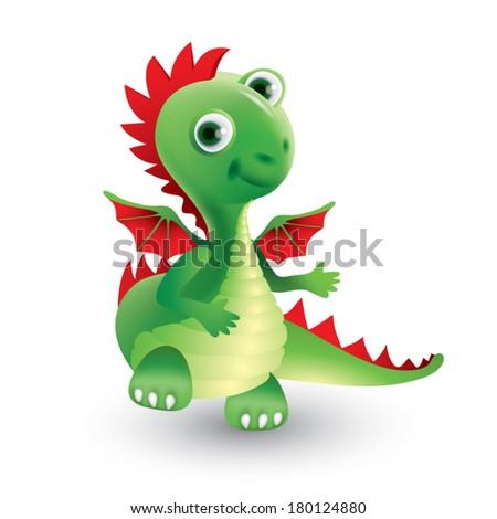 young dragon - stock vector