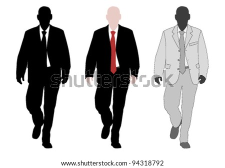 young elegant businessman - stock vector