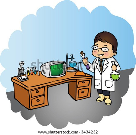 Young man working with pipette in the laboratory