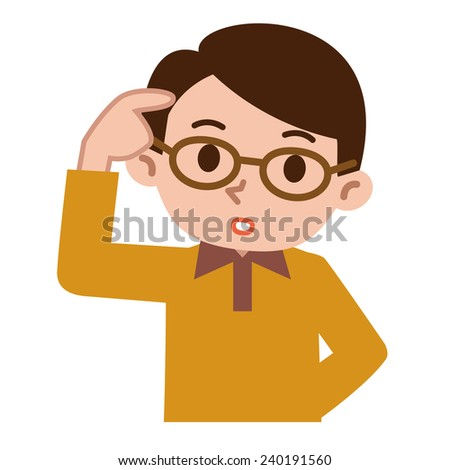 Young men have many thought - stock vector