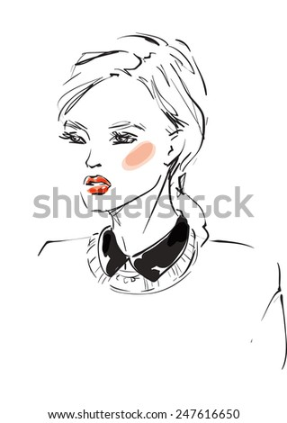 Young model - stock vector