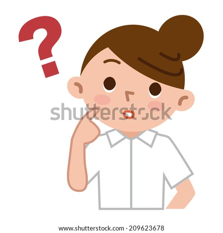 Young nurses to think - stock vector