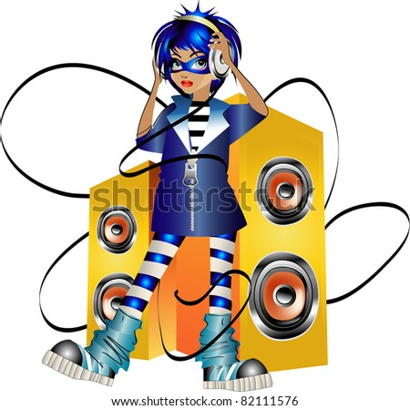Young superheroes - stock vector