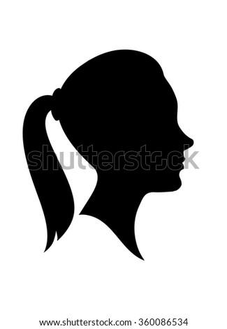 Woman Face Profile Silhouette | www.pixshark.com - Images ...