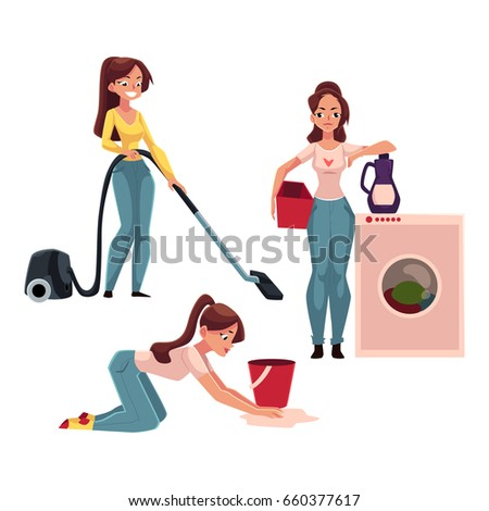 Mop floor stock images royalty free images vectors for Boden cartoon