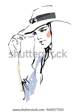 Young woman in a hat