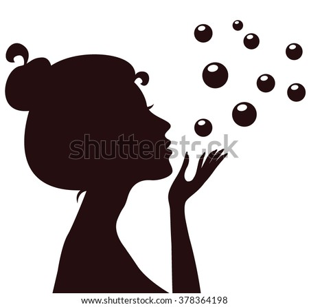 Silhouette Blowing Woman Stock Photos, Images, & Pictures ...