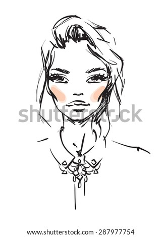 young woman sketch