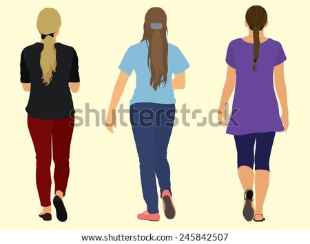 Young Women Walking Away