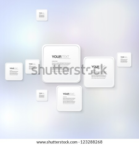 Your abstract colorful text box background design vector - stock vector