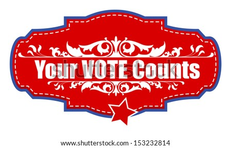 Your Vote Counts -  USA Election Day Vector Illustration - stock vector