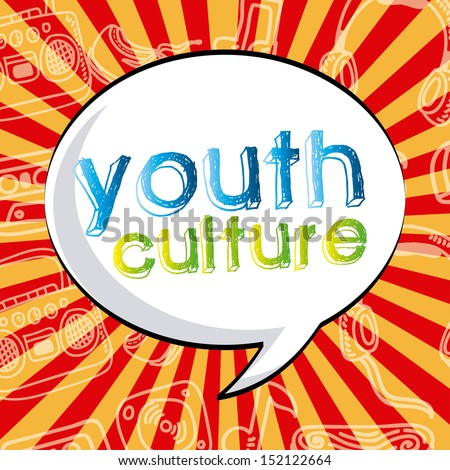 youth culture over grunge background vector illustration - stock vector