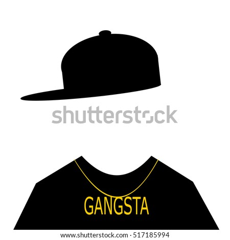 youth with baseball cap sideways and gangsta necklace